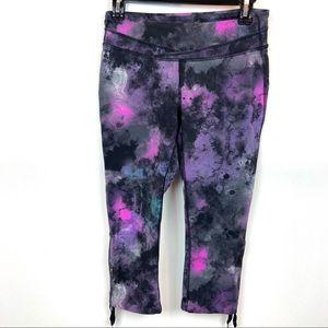 Lucy Capris Purple Black Print Size M